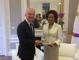 S.E. M. Claude Cottalorda - OIF - H.E. Mr Claude Cottalorda, the Principality of Monaco's Ambassador to France and Ms Michaëlle Jean, Secretary General of the International Organisation of La Francophonie ©DR